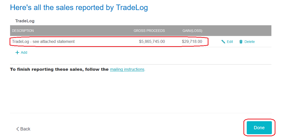 Entering Form 8949 Totals Into TurboTax® – TradeLog Software